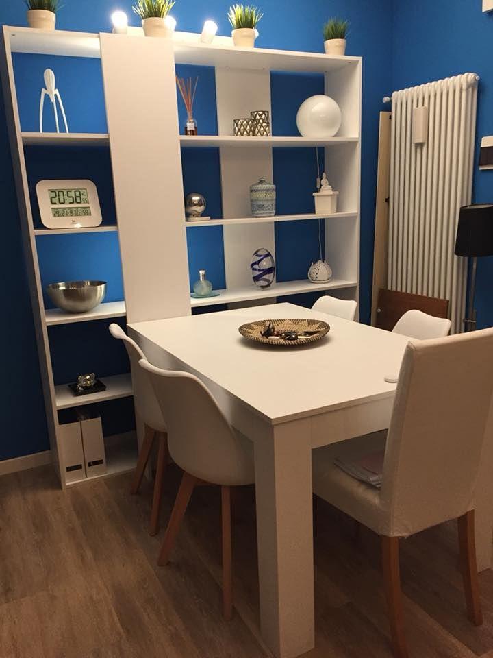 Mobili In Frassino Bianco.Mobili Fiver Tavolo Allungabile Easy E Libreria Rachele In