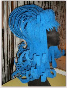peluca azul