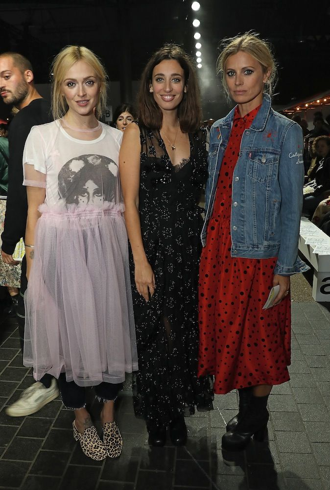 Fearne Cotton, Laura Jackson and Laura Bailey. I love the red dress and denim jkt look.