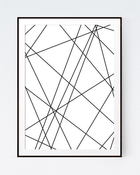 Geometric Art, Black and White Print, Abstract Geometric Prints, Abstract Art, Black and White Wall Art, Abstract Print, INSTANT DOWNLOAD