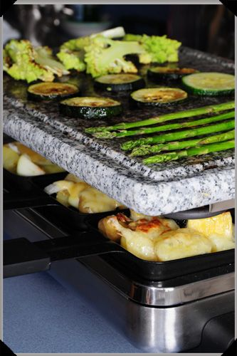 Raclette for St. Patrick's Day with Irish Cheese Green Vegetables! Get your raclette here www.fonduewithstephaniec.velata.us