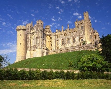 Arundel Castle, birthplace of Baroness Lady Nicole dAubigny Dudley (1210 - 1254)  my 24th great grandmother