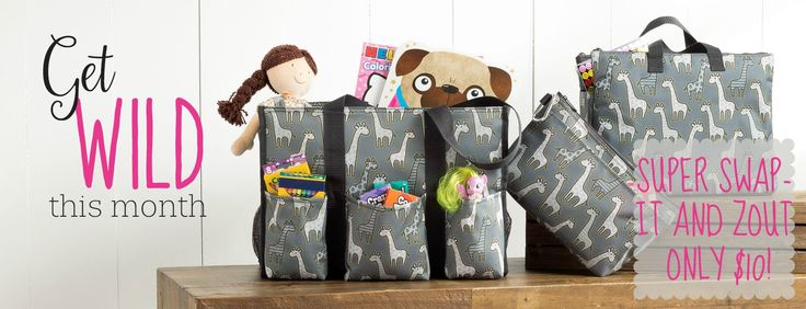 Thirty-One September 2017 customer special Facebook cover, Get Wild, ZOUT and Super Swap-it pocket $10 #thirtyone #swapitpocket #zout