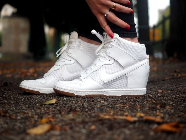 nike dunk sky high white + adidas sweater - whole loon on www.samieze.