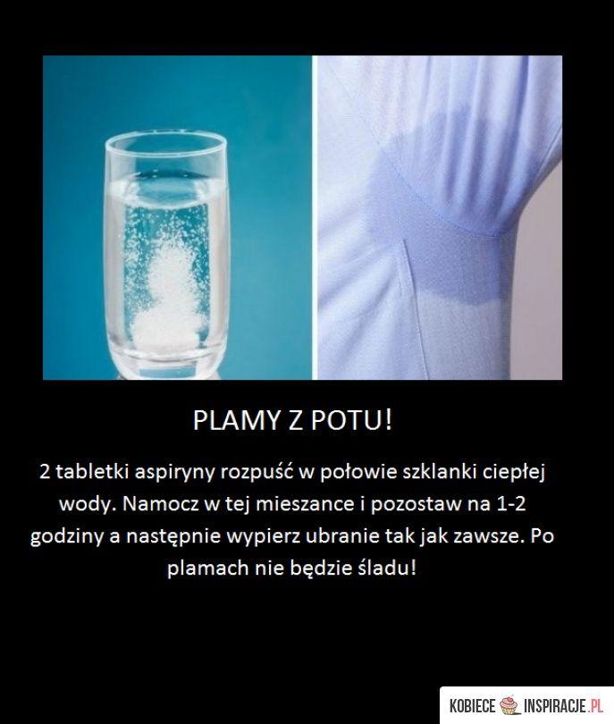 Usuwanie plam po pocie! - Kobieceinspiracje.pl