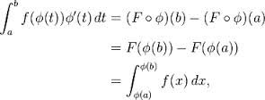 integration by substitution practice problems