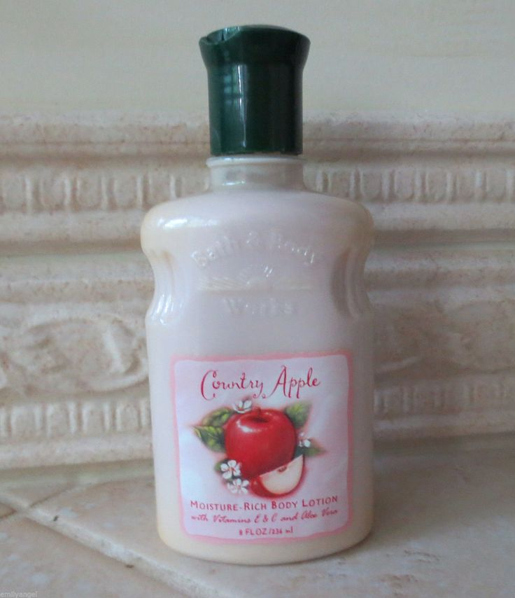 Bath body works country apple lotion vintage bath for Where are bath and body works products made