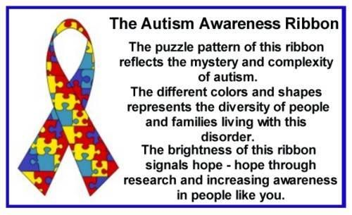 What does the autism awareness ribbon means?