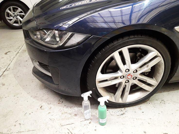 La Goma del Neumático del #Jaguar y la parte superior del Cromo brillan de manera espectacular con Magic Clean Wheel y Magic Clean Car,