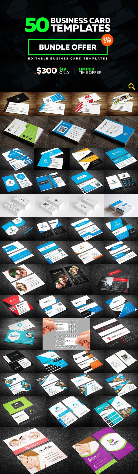 50 Creative Business Card Bundle by Arslan on @creativemarket