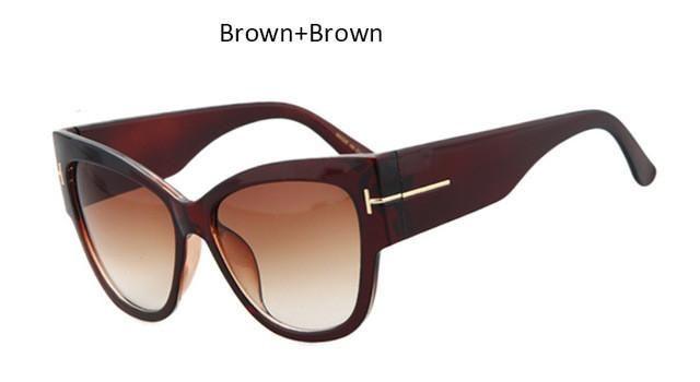 Designer Cat Eye Gradient Points Sun Glasses