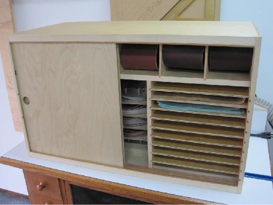 Sandpaper Storage Cabinet In 2019 Woodworking Workshop Tool Shop Woodworking Shop