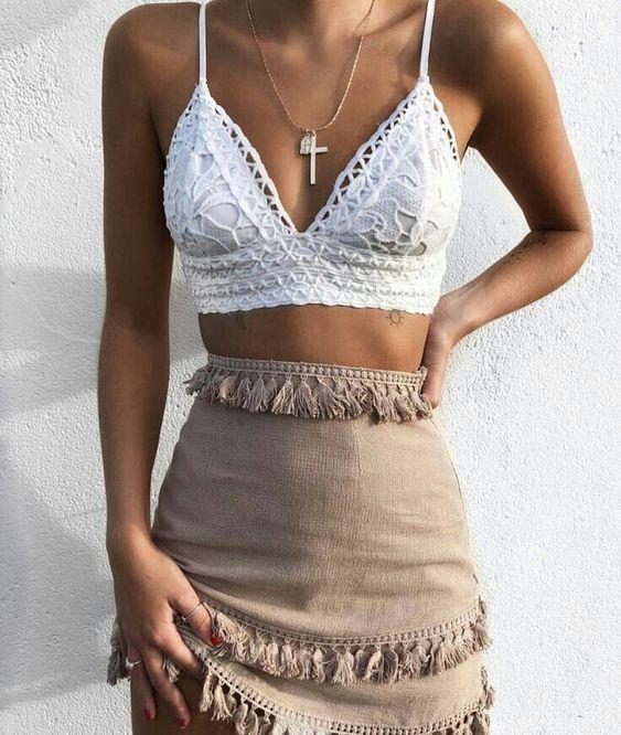 49 tenues bohémiennes à mettre à jour votre garde-robe aujourd'hui #crochet #bikinis #crop tops