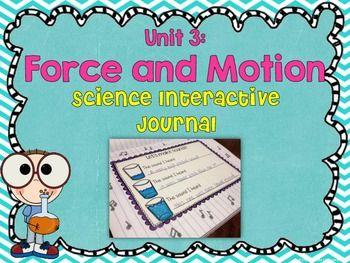 SCIENCE INTERACTIVE JOURNAL UNIT 3: FORCE AND MOTION - TeachersPayTeachers.com