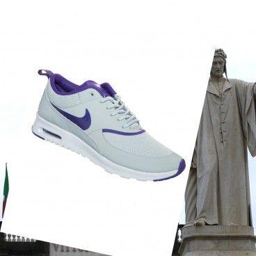 originale Nike air max thea print Argento Wing / pure platinum / viola court Scarpe da donna Italia Vendite online