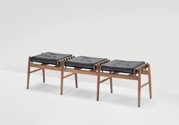 Leather Triple Stool // Debut Collection from H