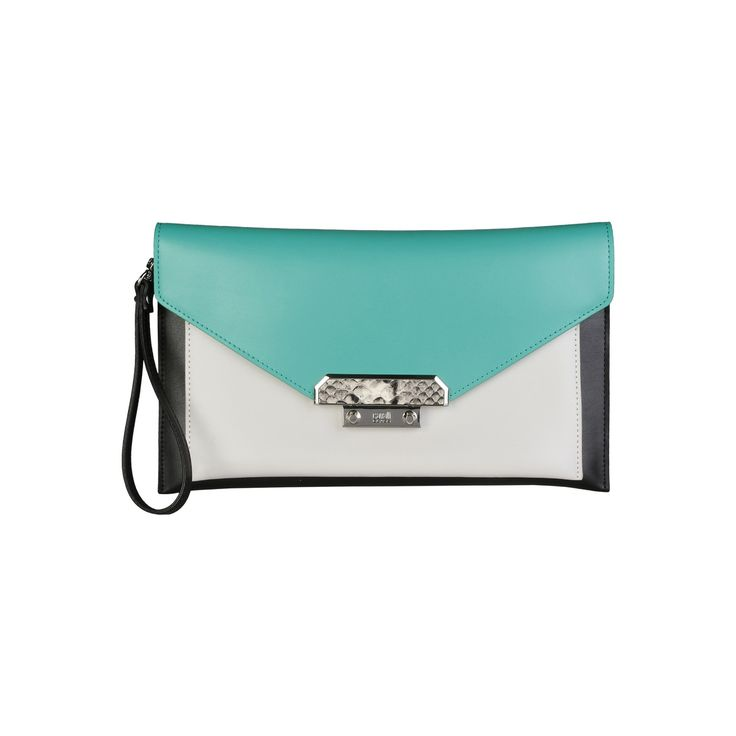 Cavalli Class – C61PWCHV0022  Clutch S/S Collection Women's bag has Removable wrist strap, magnetic fastening and a dustbag. Inside it, there are 2 compartments, a zipped pocket and a patch pocket. It's outside and lining composed of leather and 100% cotton, respectively. It is of size 29*17,5*3 cm.  https://fashiondose24.com