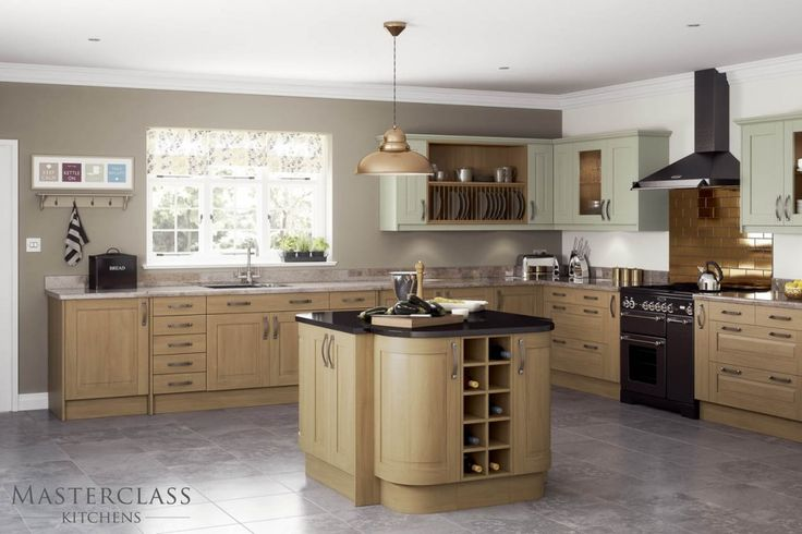 Mix And Match Kitchen With Different Coloured Base And