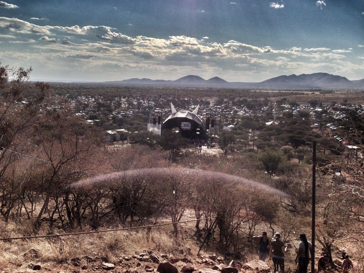 This is the view from the top of the koppie. #StandardBank #Oppikoppi2013