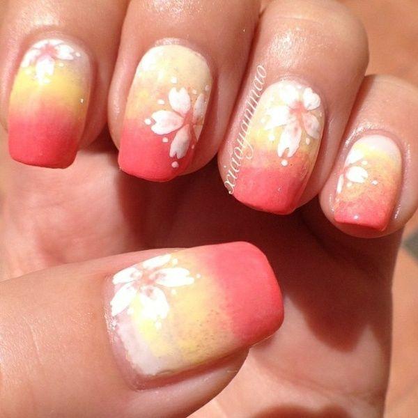 Pastelltöne Pfirsich Farbe mit Blume