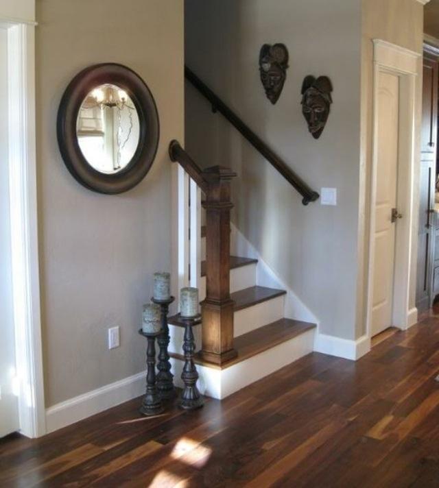 Pavilion Grey ha,lway with wooden floors