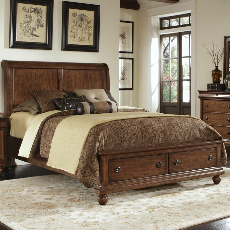 Rustic Traditions King Storage Bed Set By Liberty Furniture