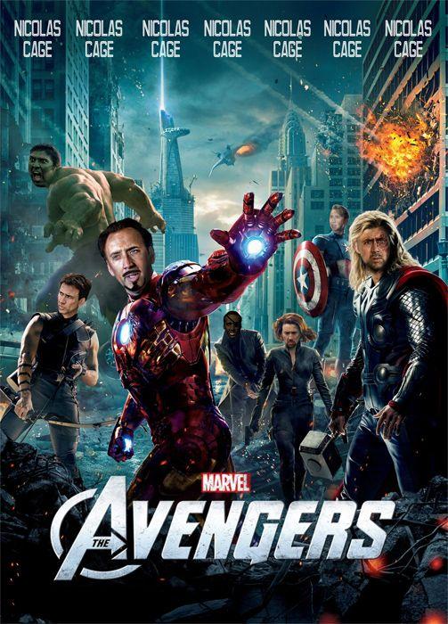 The Avengers, now with 100% more Nicolas Cage: Fav Movie, Chris Hemsworth, Marvel Movie, Superhero Movie, Nicolas Cage, Super Heroes, Favorite Movie, Avengers 2012, The Avengers