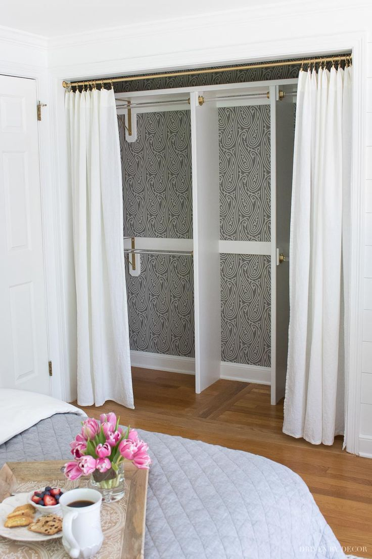 One Of My Favorite Closet Door Ideas In This Post Removing The Bifold Doors And Replacing Them With D Closetdoorideas Closetideas
