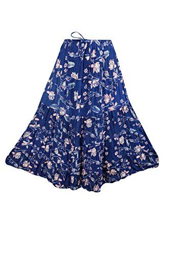 Womens Long Skirt Blue Printed Crinkle Tiered Cotton Boho... https://www.amazon.ca/dp/B072HKPDBS/ref=cm_sw_r_pi_dp_x_pQUbzb6S4JTQX