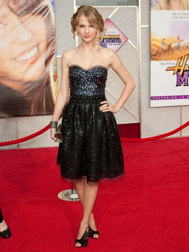 Taylor Swift at the Hannah Montana movie premiere