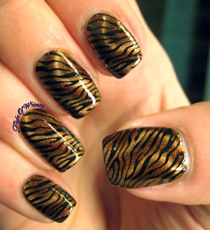 Tawdy Tiger - Best 25+ Tiger Nail Art Ideas On Pinterest Tiger Stripe Nails