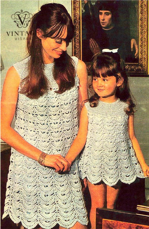 Hey, I found this really awesome Etsy listing at https://www.etsy.com/listing/170125461/mod-dresses-vintage-crochet-patterns-mom