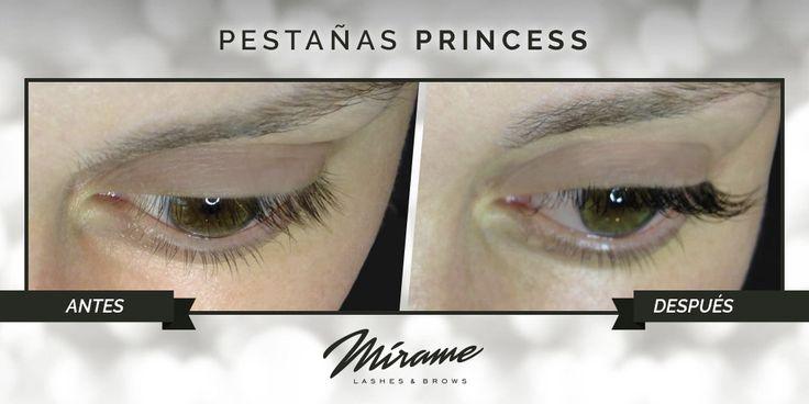 Manteniendo la naturalidad con #extensionesdepestañas Princess, 100% naturales de pelo de visón #top miramexxl.com