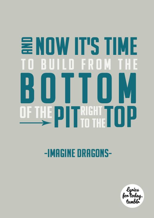 its time-imagine dragons <3