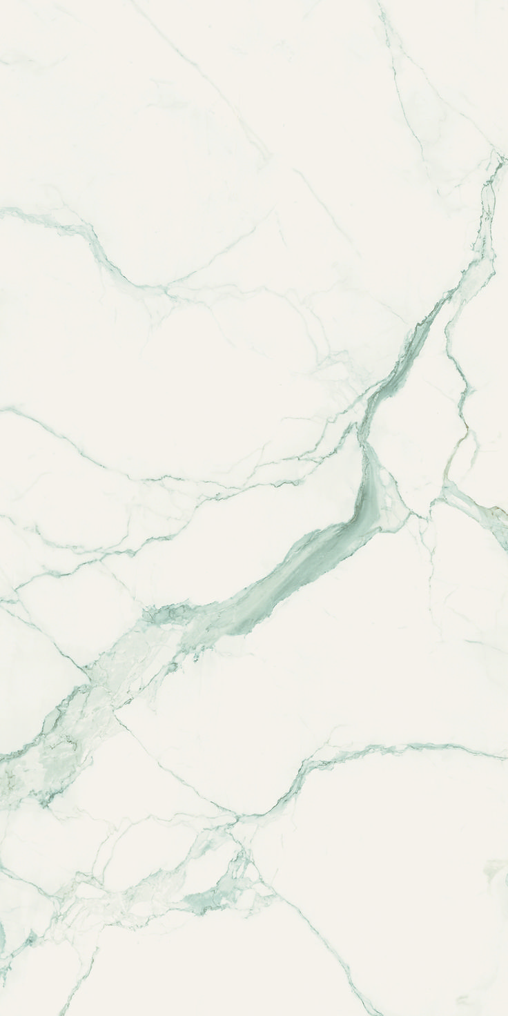 Statuario Six+.  6mm porcelain sheets.  Available in polished or honed finish.