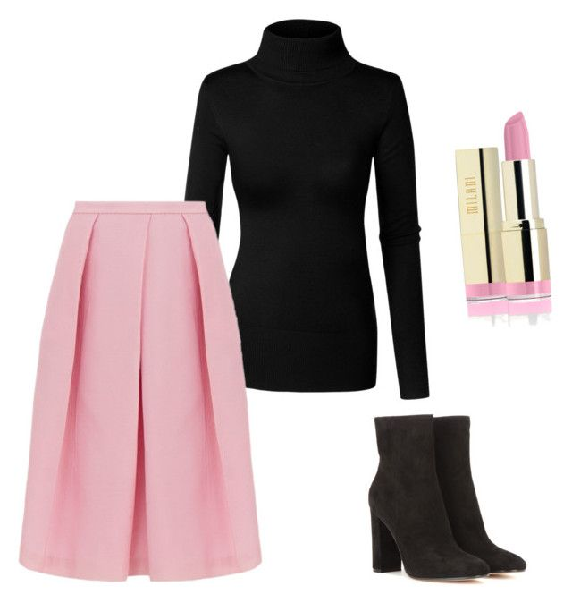"""pink&black"" by risha69 on Polyvore featuring TIBI, Gianvito Rossi, women's clothing, women, female, woman, misses and juniors"
