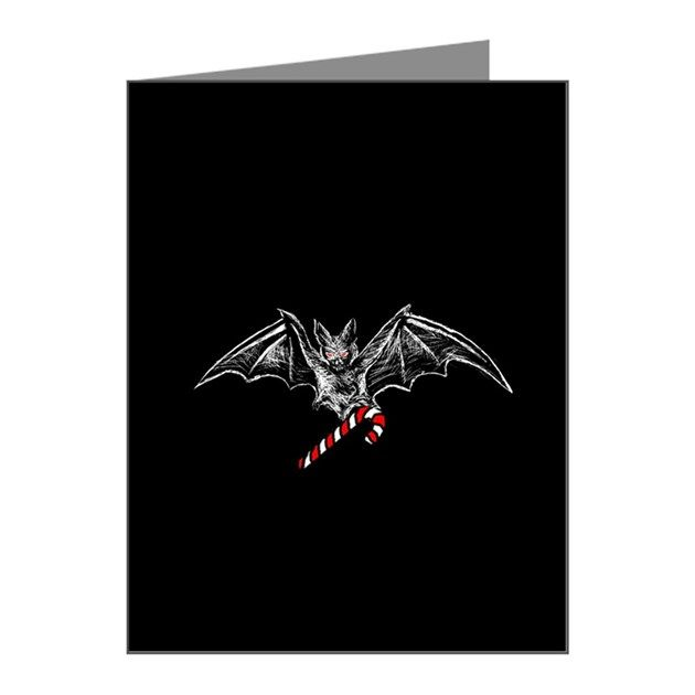 Cafe Press Gothic bat Christmas cards (US $14.99 for 10)