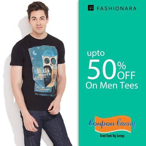 Upto 50% off on #Men Tees at fashionara.com! Visit : http://www.couponcanny.in/fashionara-coupons/