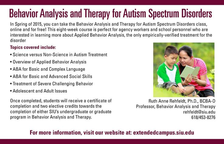 applied behavior analysis coursework Behavior analysis is a scientific approach to analyzing behavior and how the  environment affects it behavior refers to all kinds of actions and skills (not just.