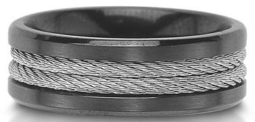 Unique men's wedding band ~ Rope