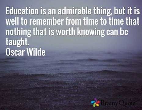 Explain Oscar Wilde's quote?