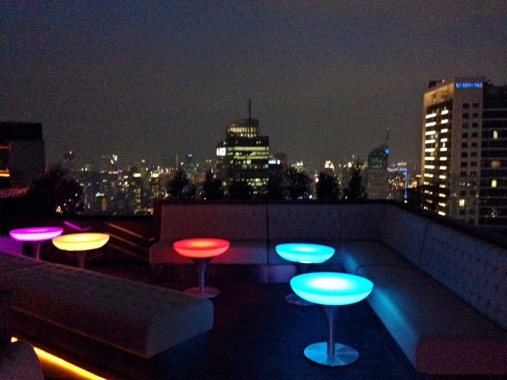 LED table at cloud lounge