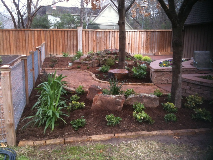 Rock garden our latest work pinterest gardens and for Backyard patio landscaping ideas