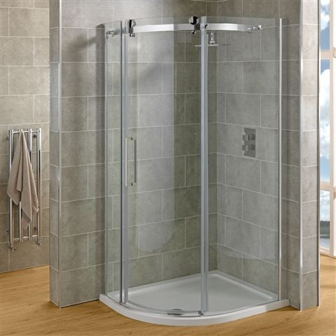 Super-contemporary Susana 100x80cm Offset Quadrant Shower Enclosure with Left Hand Sliding Door. Lovely minimalist design and 8mm easy clean glass