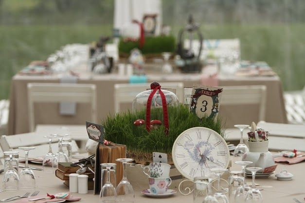 Alice in Wonderland theme Wedding held at Fancourt in George