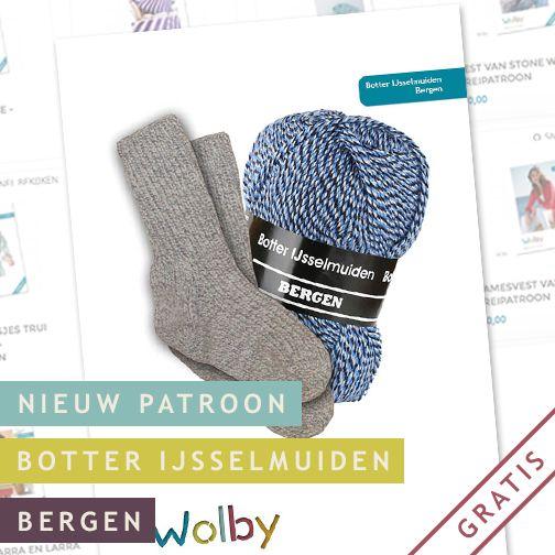 Zelf sokken breien. Hier het patroon, en Wolby verkoopt ook het garen.
