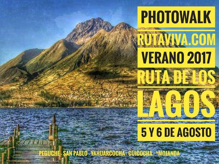 ÚLTIMOS CUPOS DISPONIBLES Alista tu #mochila y tu #cámara Lo que tanto habías esperado.... Ahora.... Cascada de Peguche Lago San Pablo Laguna de Yahuarcocha Laguna de Cuicocha y Laguna de Mojanda...todo el 5 y 6 de Agosto ..... Vive junto a la #FamiliaViajera una nueva aventura en la #RUTADELOSLAGOS  entre las provincias de #Pichincha e #Imbabura. Regístrate al WTSP: 098 154 3709 Un gran regalo se sorteará entre todos los inscritos. Vive tu mejor #aventura con #Rutaviva#TravelTheWorld  Los…