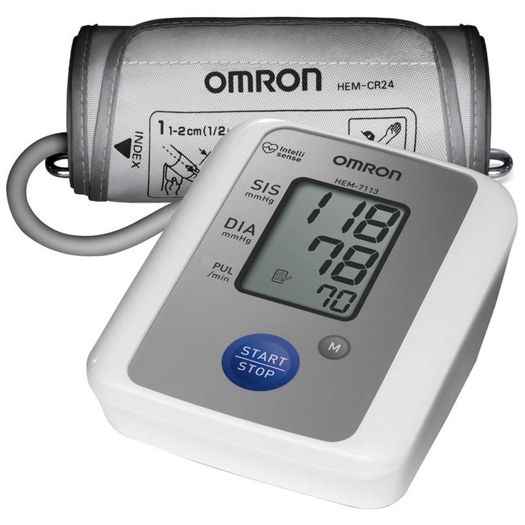 Monitor de Pressão Automático de Braço Omron - Indicador de Hipertensão, Detecta Batimentos Cardíacos Irregulares, Simples e Fácil de Usar - HEM 7113 - ShopFácil.com