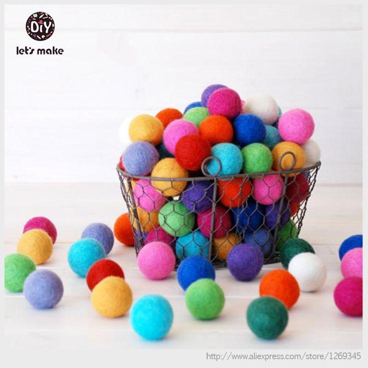 100 pcs népal pur feutre Balls 2 CM boules de laine feutrée feutre Pom Poms Chunky aléatoire couleur Bubblegum perles mixte pour déco dans Fleurs décoratives et couronnes de Maison & Jardin sur AliExpress.com | Alibaba Group