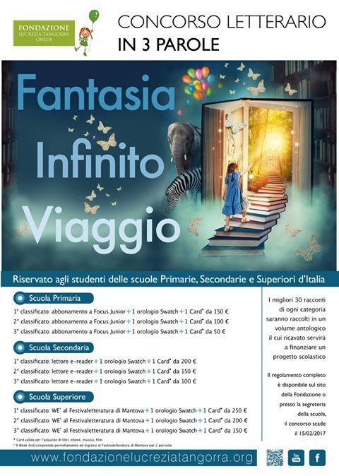 """""""Fantasia, infinito, viaggio"""": il concorso letterario per studenti promosso dall'associazione Margaret Tangorra http://libriscrittorilettori.altervista.org/3739-2/ #associazionetangorra #concorsoletterario #studenti"""